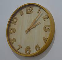 Годинник на стіну, імітація дерева (35 см.), фото 1