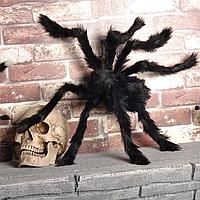 Паук 75см меховой, декорации на Хэллоуин