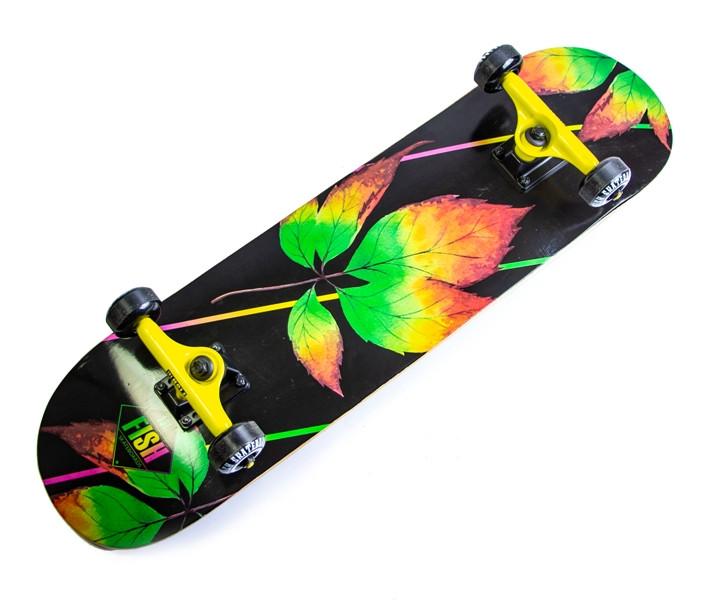 Деревянный скейт скейтборд скейтборт от Fish Skateboard Лист