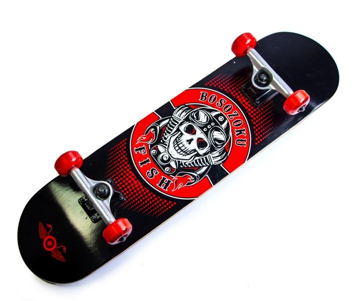 Деревянный скейт скейтборд скейтборт от Fish Skateboard Bosozoku