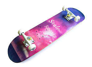 Деревянный скейт скейтборд скейтборт Scale Sports Рассвет, фото 2