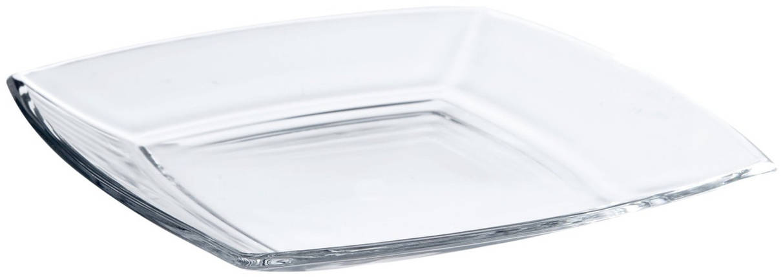 Набор сервировочных тарелок стеклянных Токио (6шт)  195*195 мм, фото 2