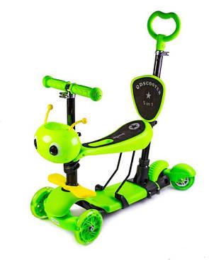 """Самокат Scooter """"Пчелка"""" 5in1 Green, фото 2"""
