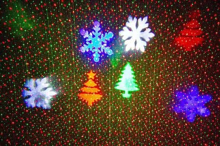 Новогодний уличный лазерный проектор 4 цвета  X-Laser XX-MIX-1012, фото 2