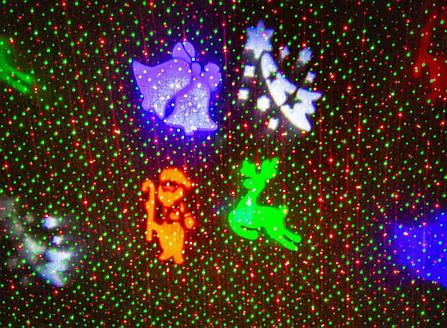 Новогодний уличный лазерный проектор 4 цвета  X-Laser XX-MIX-1005, фото 2