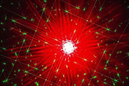 Новогодний уличный лазерный проектор 2 цвета  X-Laser XX-LS-807 RGB с ДУ, фото 2