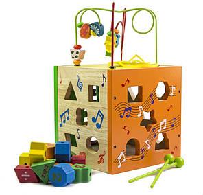 Деревянная игрушка-сортер музыкальный лабиринт (МММ-624) оптом, фото 2