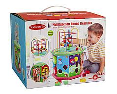 Деревянная игрушка-сортер 10 в 1, Лабиринт, музыкальный