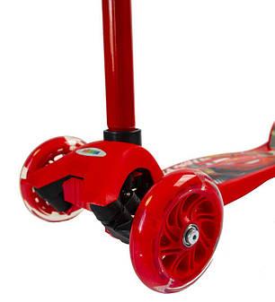 Самокат Maxi Scooter Disney. Тачки Молния Маквин, фото 2
