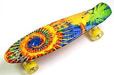 """Penny Board """"Sunflowers"""" Светящиеся колеса, фото 2"""