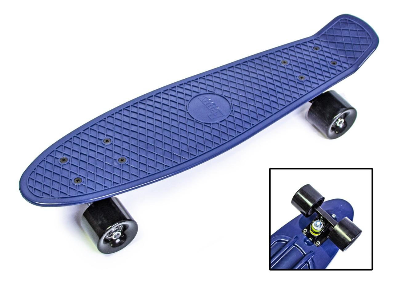 Penny Board. Темно-синий цвет. Матовые колеса.