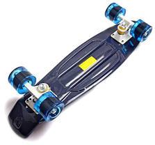 Penny Board. Темно-синий цвет. Матовые колеса., фото 3