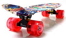 "Penny Board ""Graffiti"" NBA. Светящиеся колеса., фото 3"