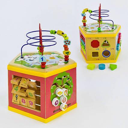 Развивающая деревянная игрушка (бизиборд, пальчиковый лабиринт) арт. 31352