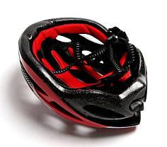 Шлем велосипедный с регулировкой. Красный цвет., фото 3
