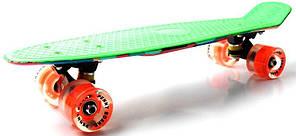 "Penny Board ""Marco's"" Green 2in1 Светящиеся колеса, фото 2"