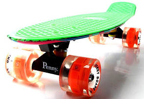 "Penny Board ""Marco's"" Green 2in1 Светящиеся колеса, фото 3"