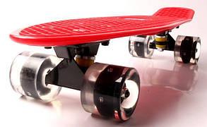 """Penny Board """"Fish"""" Красный цвет. Светящиеся колеса., фото 2"""