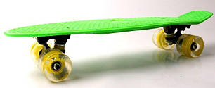 "Penny Board ""Fish"" Салатовый цвет. Светящиеся колеса., фото 2"