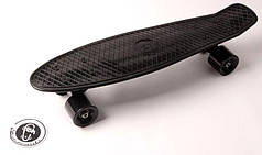 """Penny Board """"Fish"""" Черный цвет. Матовые колеса"""