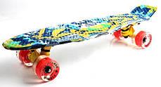"Penny Board ""Fish"" Camel. Светящиеся колеса., фото 2"