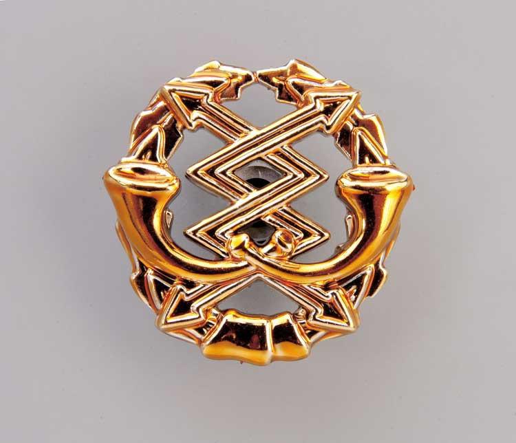 Эмблема связи (золотистая)  Старого образца.