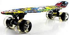 """Penny Board """"Cool Draft"""" Joker Светящиеся колеса, фото 3"""