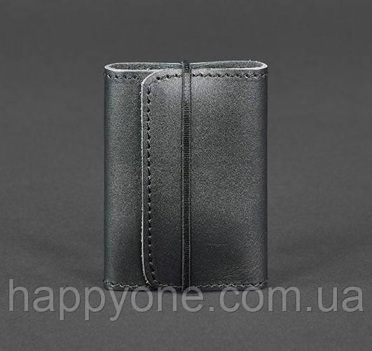 Кожаный кард-кейс 1.1 (черный)