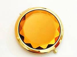 Двойное карманное зеркальце оранжевый (HT247)