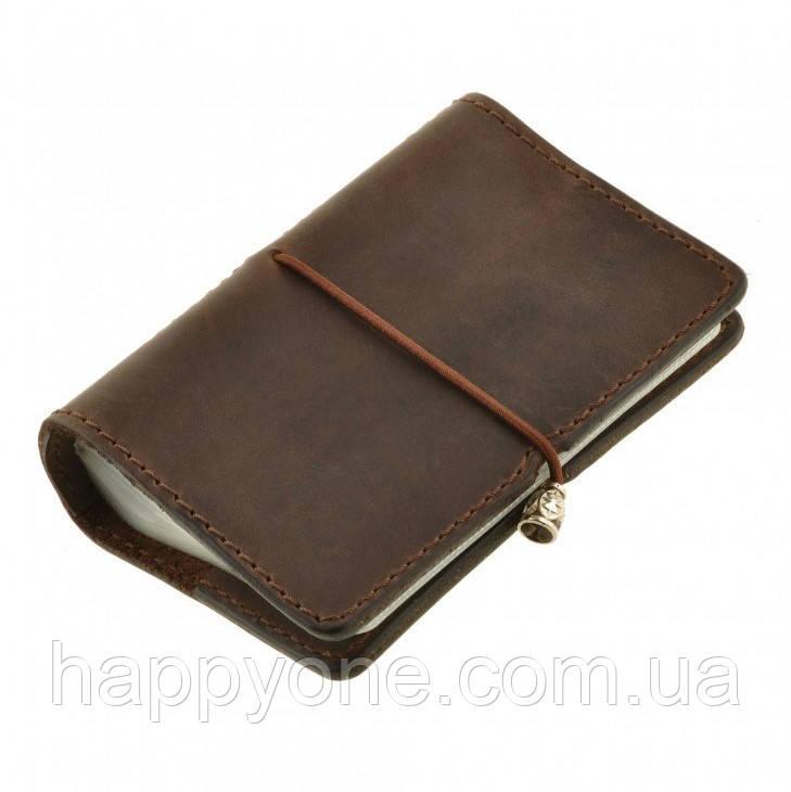Кожаный кард-кейс 7.0 (темно-коричневый)