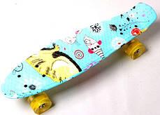 """Penny Board """"Cool Cat"""" Светящиеся колеса, фото 2"""
