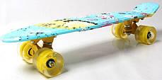 """Penny Board """"Cool Cat"""" Светящиеся колеса, фото 3"""