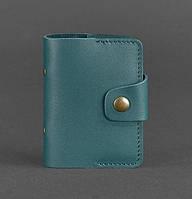 Кард-кейс книжечка кожаный 7.1 (зеленый), фото 1