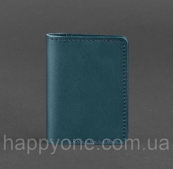 Женский кожаный кард-кейс 6.0 (зеленый)