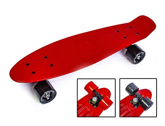 Penny Board. Красный цвет. Матовые колеса., фото 2