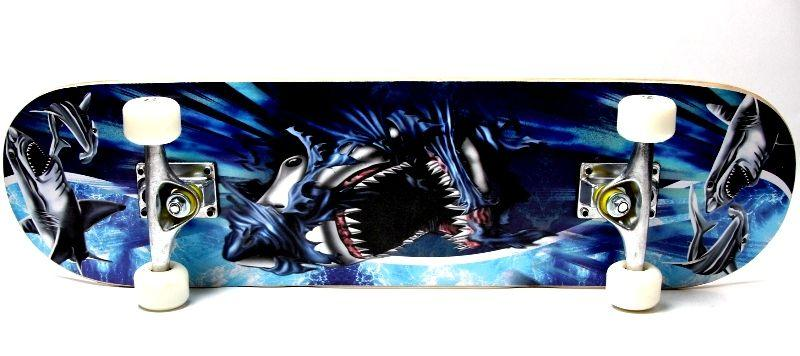 "Деревянный скейт скейтборд скейтборт  ""Cool Shark"""