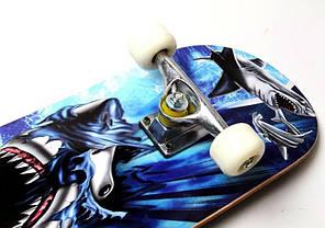 """Деревянный скейт скейтборд скейтборт  """"Cool Shark"""", фото 2"""