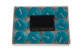 Свечи ароматизированные в металлическом корпусе 10 шт синий (HT330)