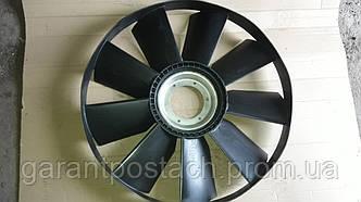 """Крыльчатка вентилятора КамАЗ """"Евро-2"""" с обечайкой (704мм) (выгнутый диск, 9 лоп.) (Технотрон) 21-051"""
