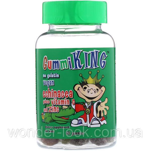 GummiKing, Эхинацея с витамином С и цинком, Для детей, 60 жевательных таблеток