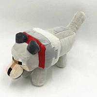 Cимпатичная мягкая плюшевая игрушка Minecraft Новый Волк 23 см