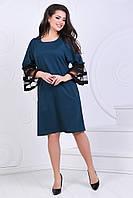 Батальне  плаття з сіткою на рукавах , 6 кольорів .Р-ри 50 -56, фото 1