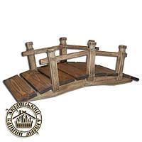 Деревянный мостик для ландшафтного дизайна