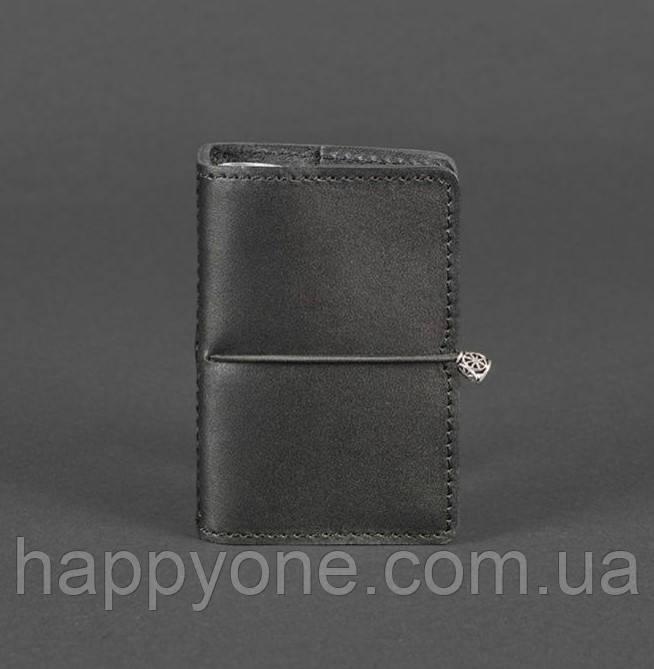 Кожаный кард-кейс 7.0 (черный)