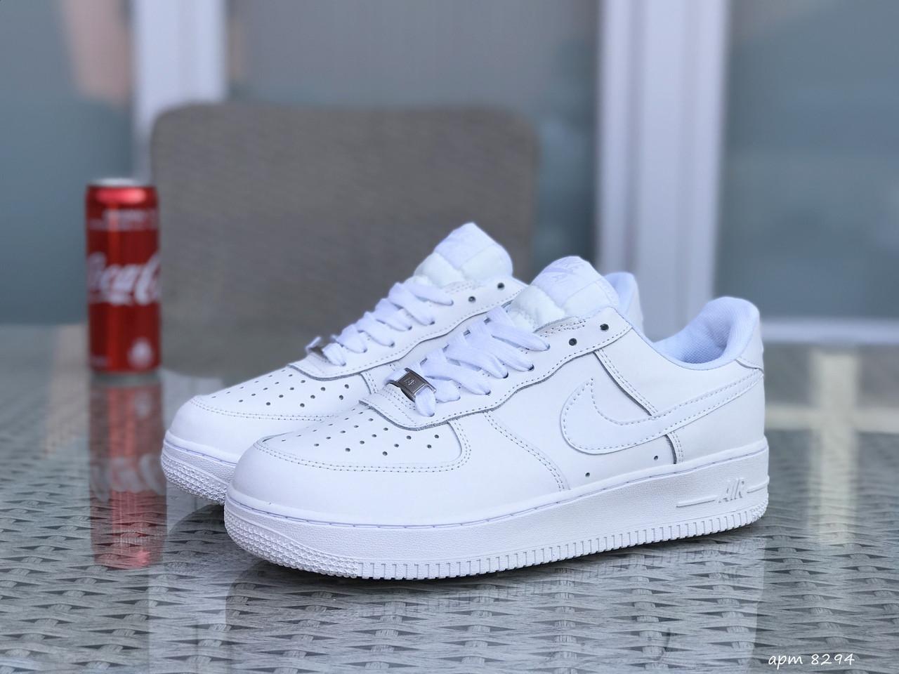 Чоловічі кросівки Nike Air Force (білі)
