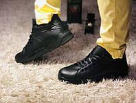 Мужские зимние ботинки кожа черные 0074ГРМ
