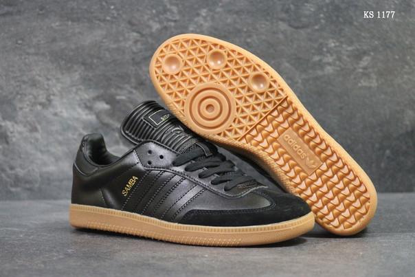 Мужские кроссовки Adidas Samba (черные)