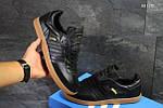 Мужские кроссовки Adidas Samba (черные), фото 2
