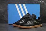 Чоловічі кросівки Adidas Samba (чорні), фото 4