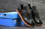 Чоловічі кросівки Adidas Samba (чорні), фото 5